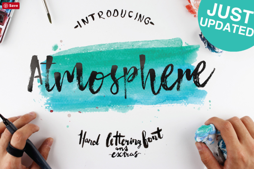 22 Artistic and Hand Painted Fonts to Use on Your Next Design 2
