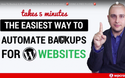 Learn to Backup your WordPress Website Automatically – Video