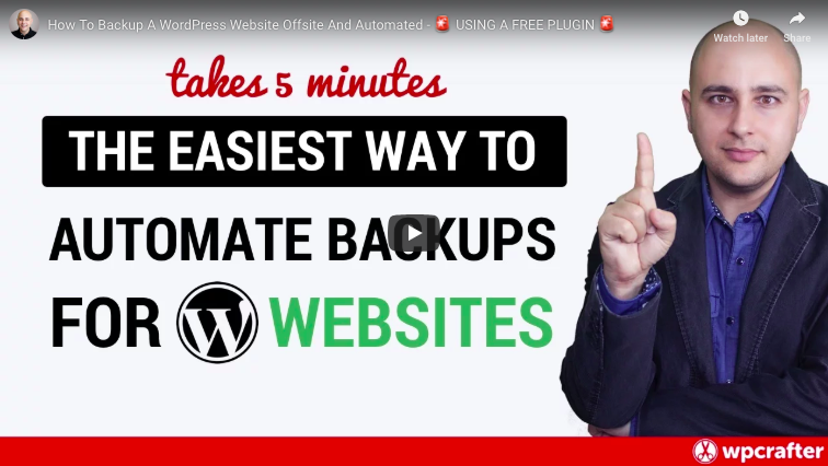 Learn to Backup your Wordpress Website Automatically - Video 1